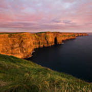 The Mighty Cliffs Of Moher In Ireland Art Print