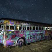 The Milky Way Bus Art Print