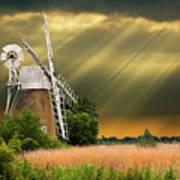 The Mill On The Marsh Art Print
