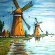 The Mills Of Holland Art Print