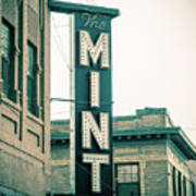The Mint Classic Neon Sign Livingston Montana Art Print