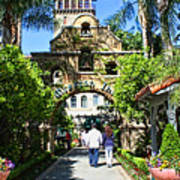 The Mission Inn Stage Coach Entrance Art Print