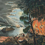 The Mississippi In Time Of War, 1865  Art Print