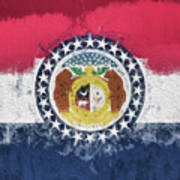 The Missouri Flag Art Print