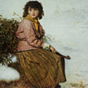 The Mistletoe Gatherer Art Print
