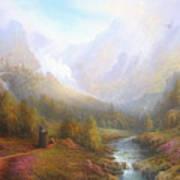 The Misty Mountains Art Print by Joe  Gilronan