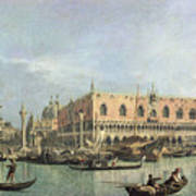 The Molo And The Piazzetta San Marco Art Print