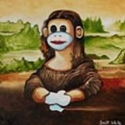 The Monkey Lisa Art Print
