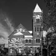 The Monongalia County Courthouse - Morgantown West Virginia Art Print