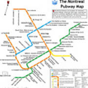 The Montreal Pubway Map Art Print