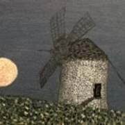 The Moon And The Windmill Art Print