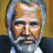 The Most Interesting Man In The World Art Print by Buffalo Bonker