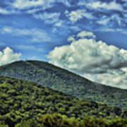 The Mountain Meets The Sky Art Print