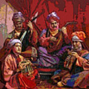 The Musicians Of Hajji Baba Print by Eikoni Images