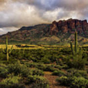The Mystical Beauty Of The Superstitions  Art Print