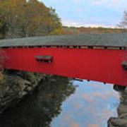 The Narrows Covered Bridge At Dusk Art Print