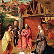 The Nativity By Gerard David  Art Print