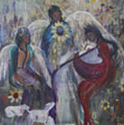 The Nativity Of The Angels Art Print