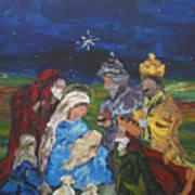 The Nativity Print by Reina Resto