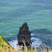 The Needle Off The Cliff's Of Moher In Ireland Art Print