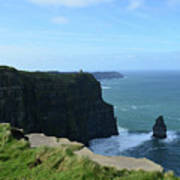 The Needle Rock Formation On The Cliff's Of Moher Art Print