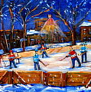 The Neighborhood Hockey Rink Art Print