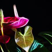 The Neon Garden Art Print