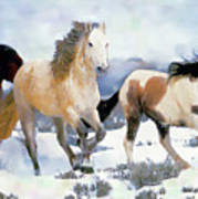 The Nevada Herd Art Print