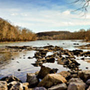 The New River At Whitt Riverbend Park - Giles County Virginia Art Print