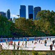 The New York Central Park Ice Rink  Art Print