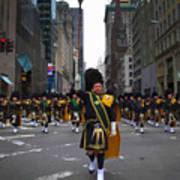 The New York City Police Emerald Society Pipe And Drum Corps Art Print