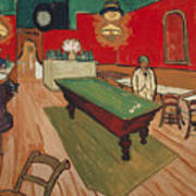 The Night Cafe In Arles Art Print
