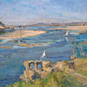 The Nile Near Aswan Art Print