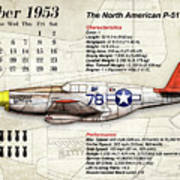 The North American P-51 Mustang V1 Art Print