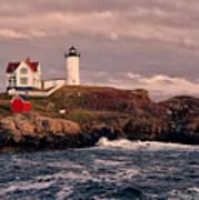 The Nubble Lighthouse  Art Print