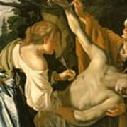 The Nursing Of Saint Sebastian Art Print by Theodore van Baburen