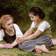 The Nut Gatherers Art Print by William-Adolphe Bouguereau