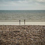 The Ocean Can Make You Feel Small, Bognor Regis, Uk. Art Print