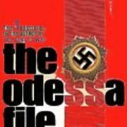 The Odessa File Frederick Forsyth Book Cover 1972 Color Added 2016 Art Print