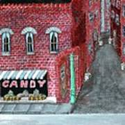 The Old Brick Candy Store Art Print