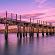 The Old Bridge at Sunset Art Print