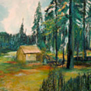 The Old Cabin Art Print