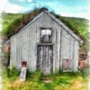 The Old Chicken Coop Iceland Turf Barn Art Print