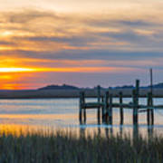 The Old Dock - Charleston Low Country Art Print