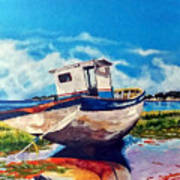 The Old Fishing Boat Art Print