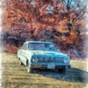 The Old Ford On The Side Of The Road Art Print