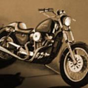 The Old Harley Art Print