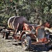 The Old Jalopy In Wine Country, California  Art Print