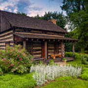The Old Log Home  Art Print