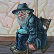 The Old Man Near The Western Wall Art Print